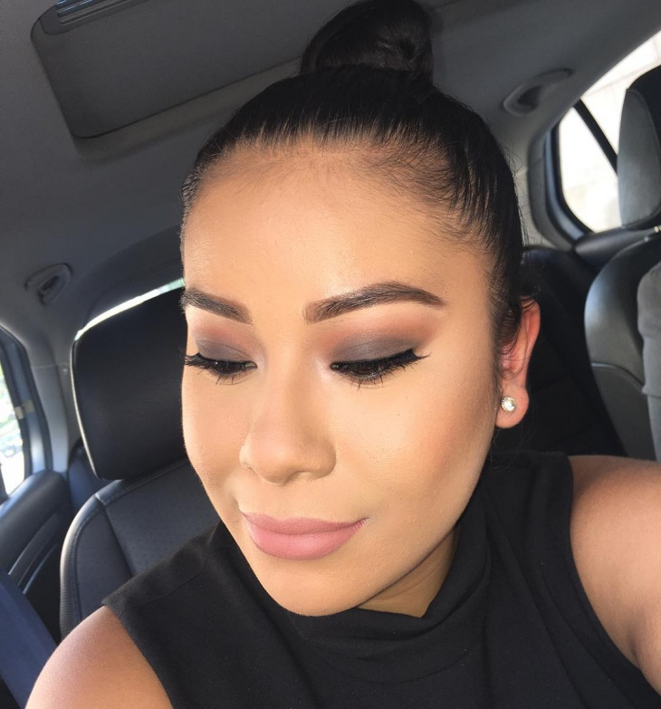 matte brown smokey eye makeup