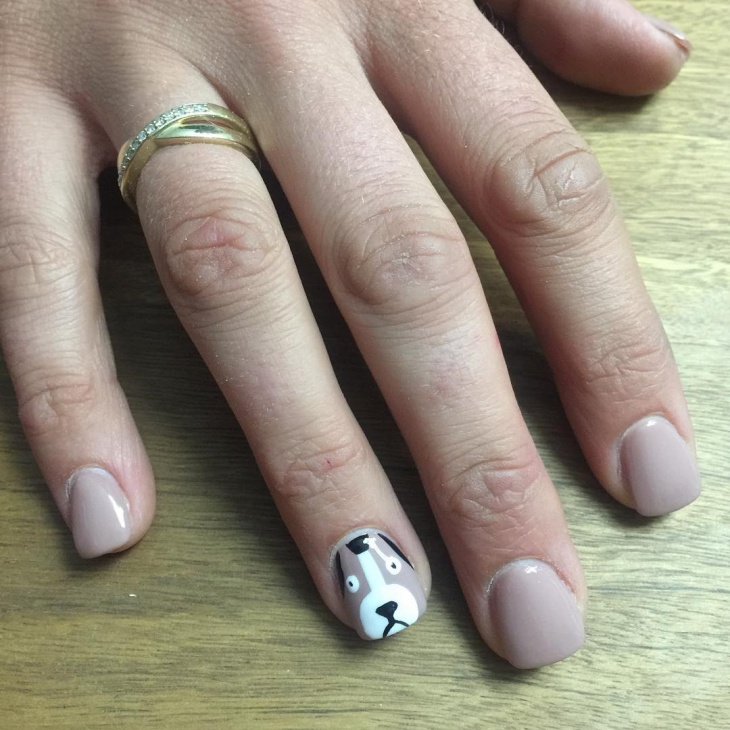 Dog Puppy Nail Art Design