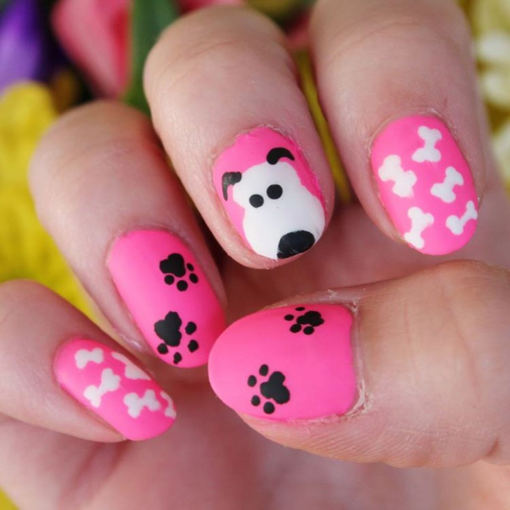 Dog Bone Nail Art