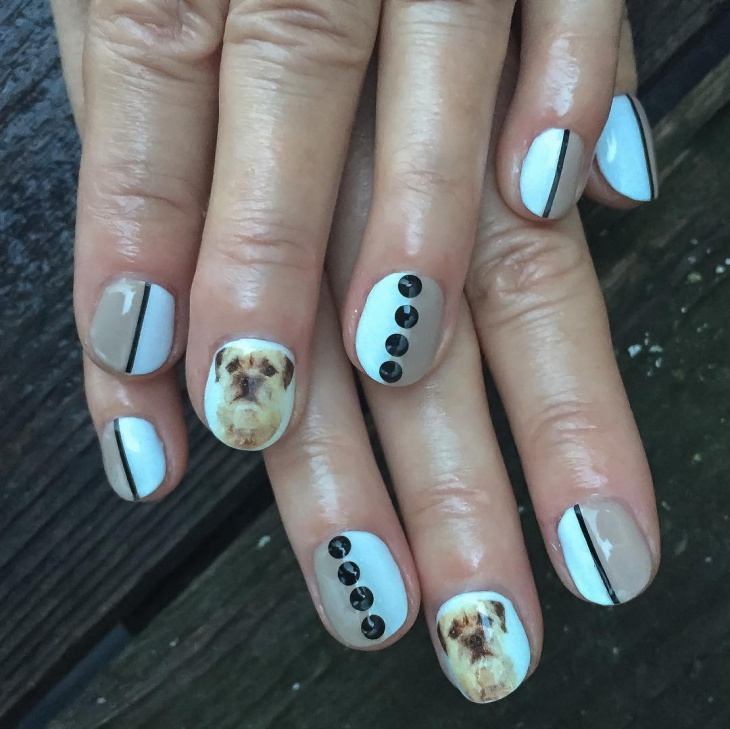 Dog Nail Art for Short Nails