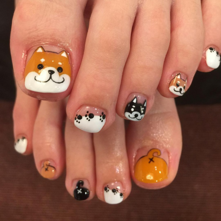 Dog Toe Nail Art