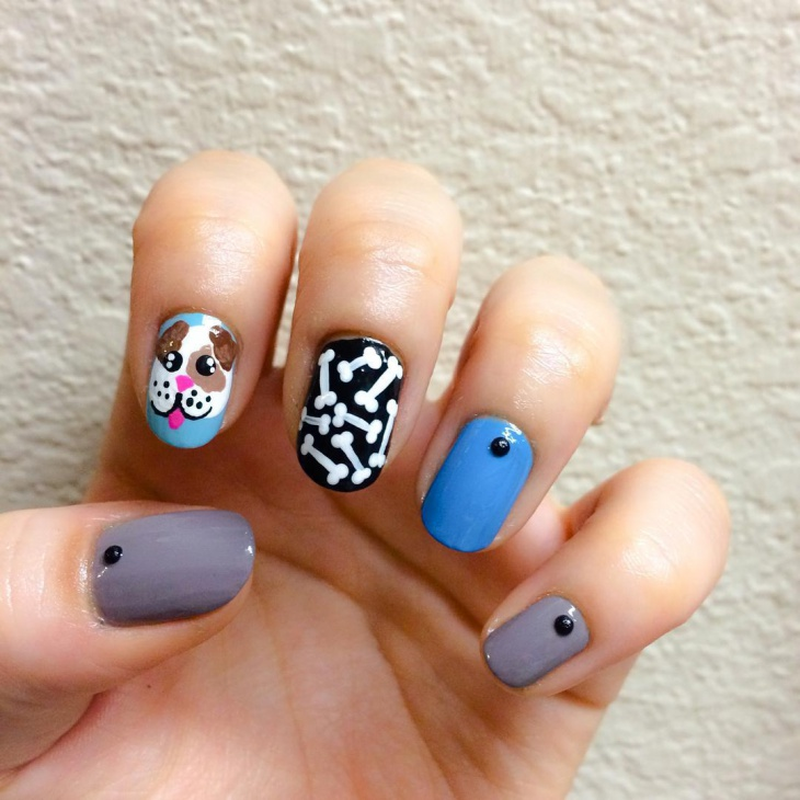 Cute Puppy Nail Art Idea