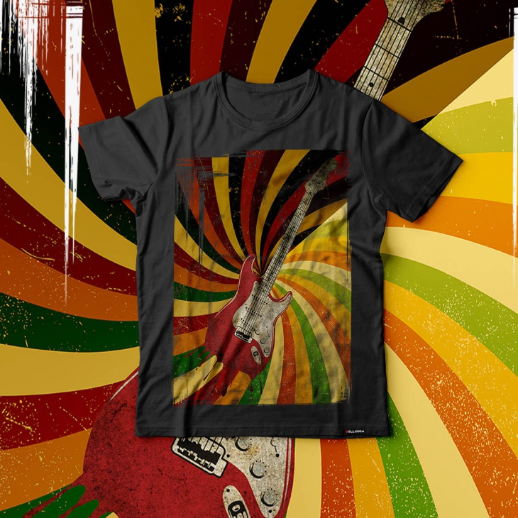psychedelic music t shirt