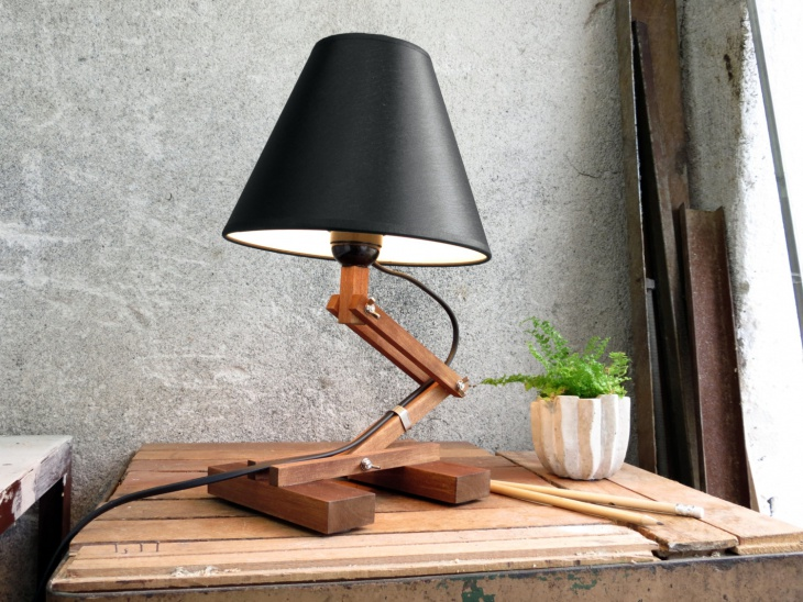 small modern table lamp