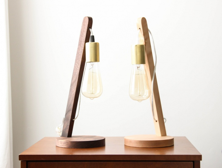 modern angled table lamp