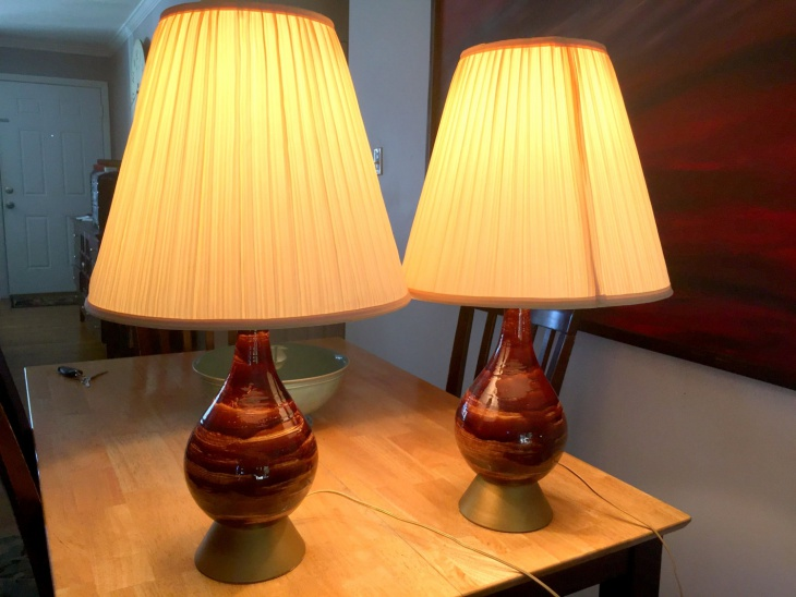 mid century modern table lamp design