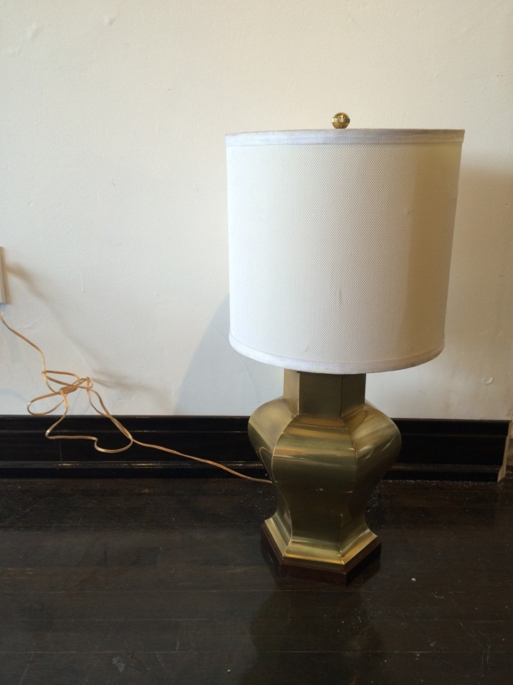 modern cooper brass table lamp