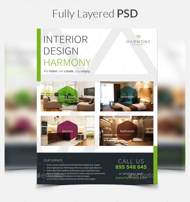 Harmony Flyer Template A Interior Design Flyer Template Interior