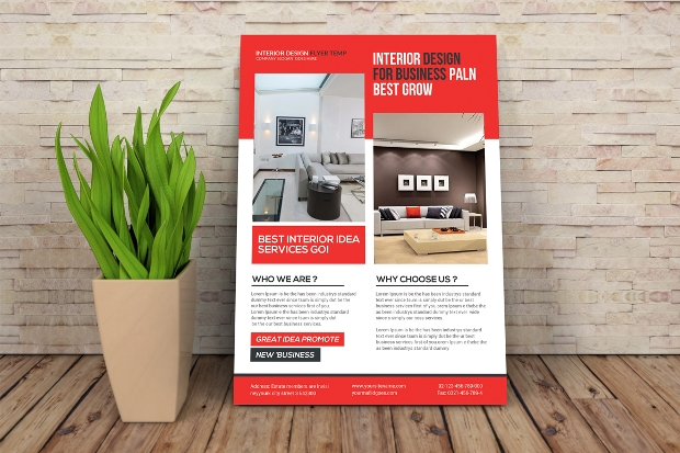Elegant Interior Design Flyer Template