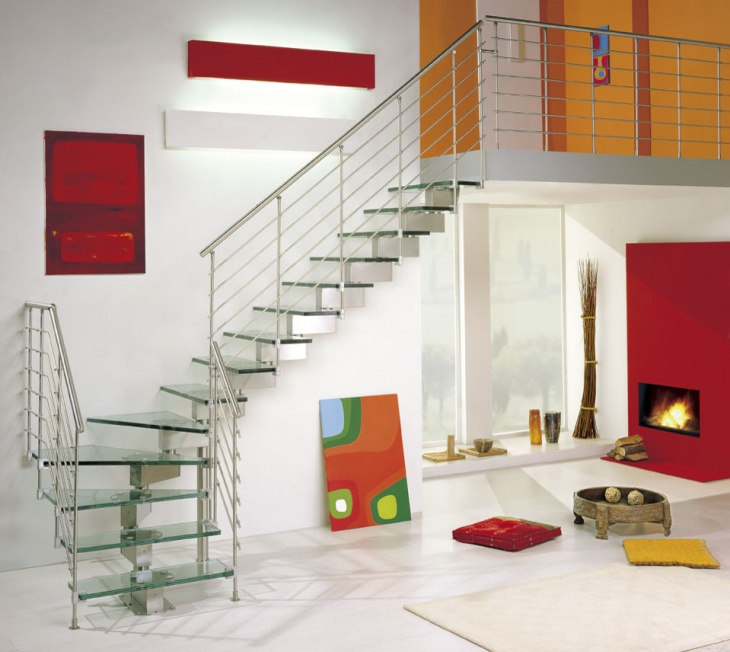 Modern Glass Staircase Design