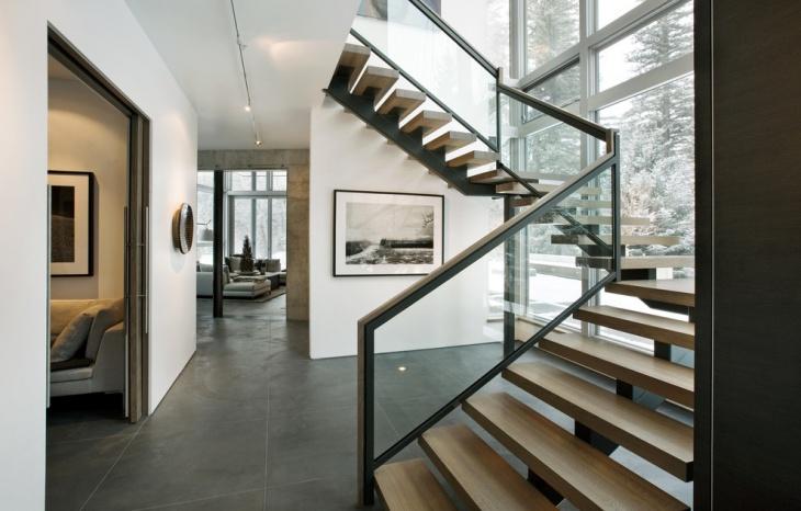 modern open staircase