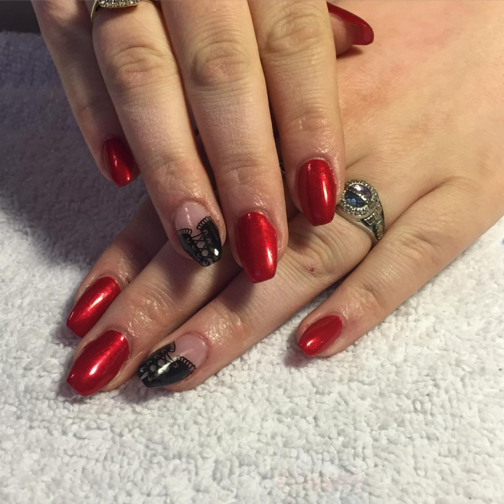 corset party nail art