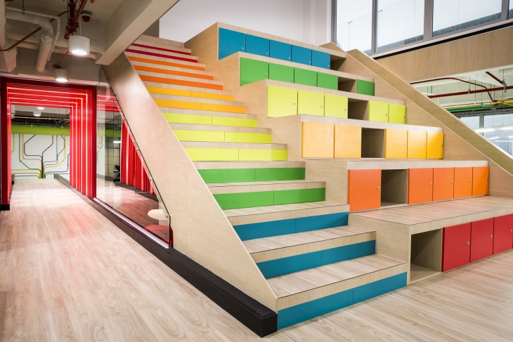 Colorful Modern Staircase Design