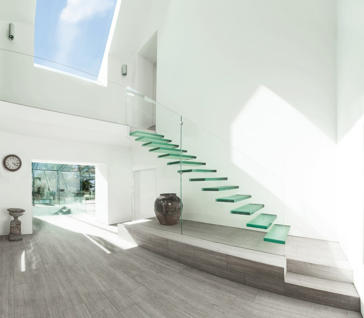 Modern Glass Floating Staircase Design