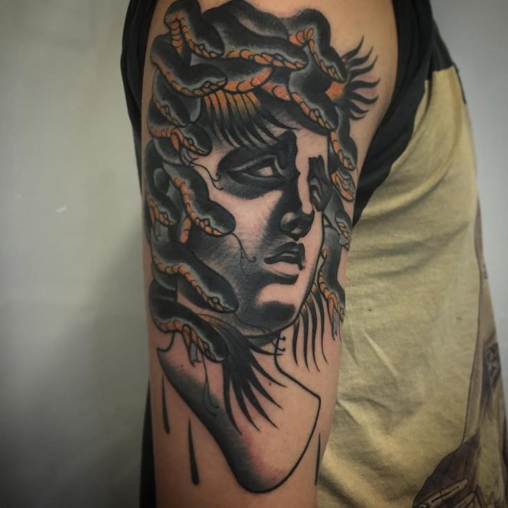 medusa tattoo on sleeve