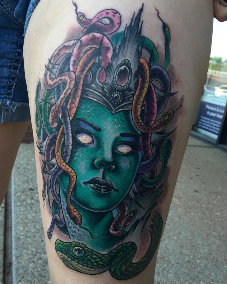 medusa greek tattoo design