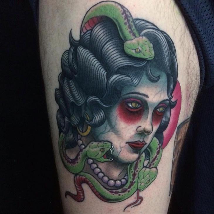 neo medusa tattoo idea