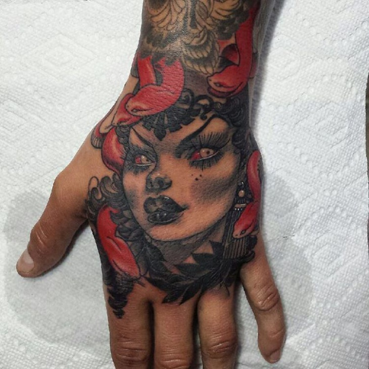 medusa tattoo for palm