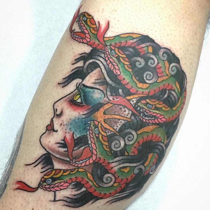scary medusa tattoo design