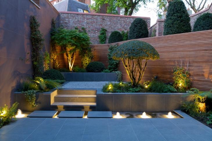 small backyard lighting idea