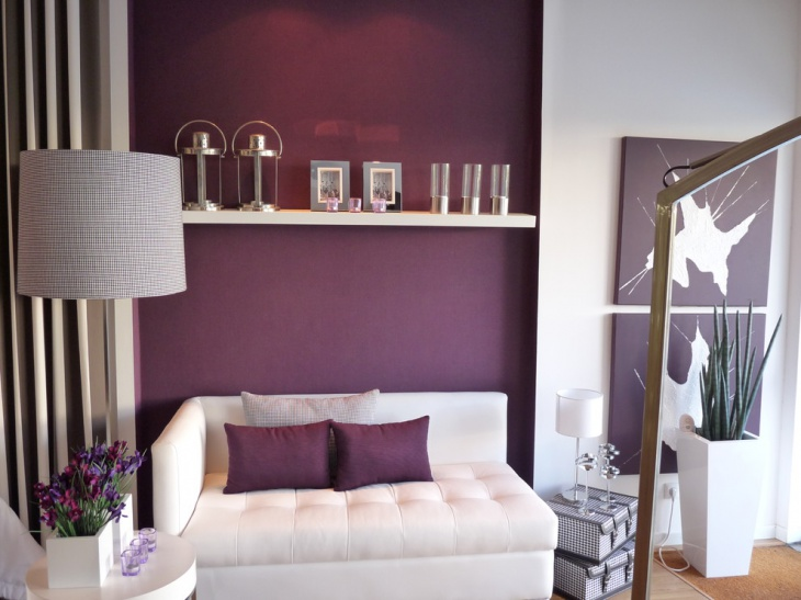 small purple living room