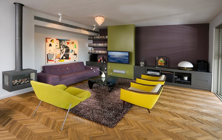 purple living room furniture