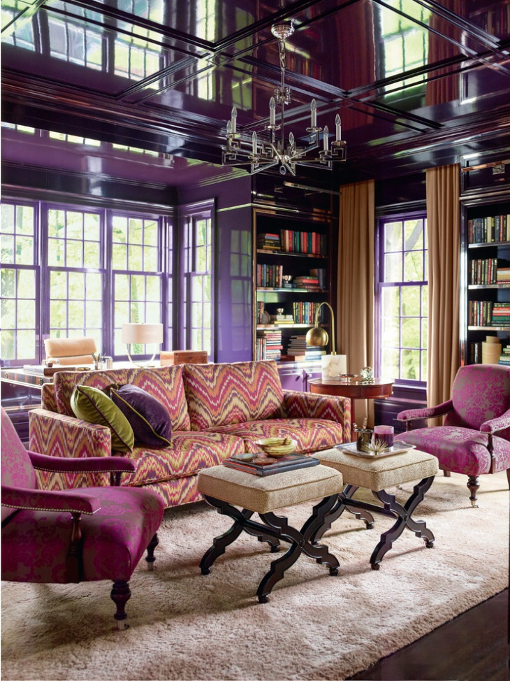 luxury purple living room design