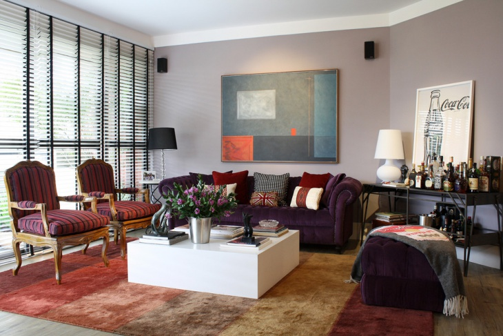 decorative purple living room design