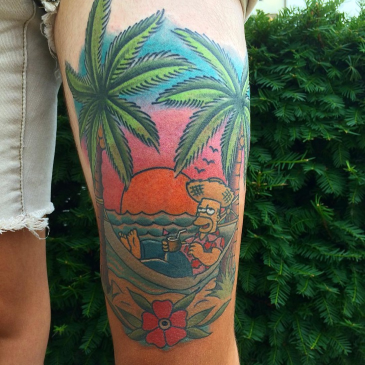 Simpsons Beach Tattoo