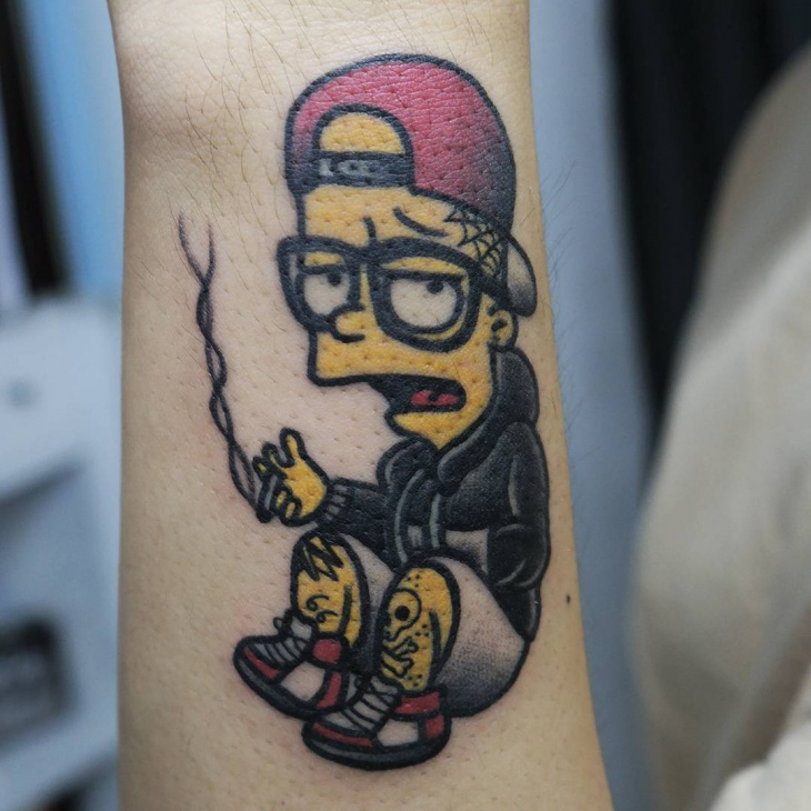 simpsons expression tattoo