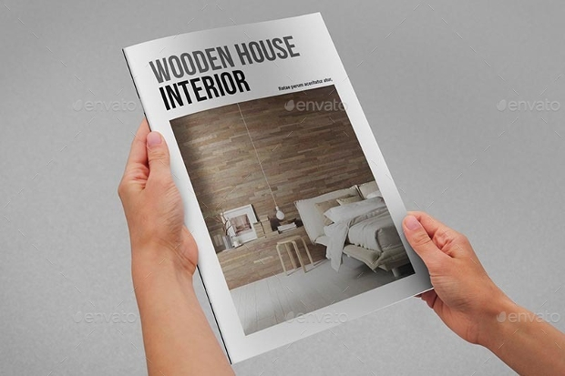 A4 Wooden House Interior Magazine