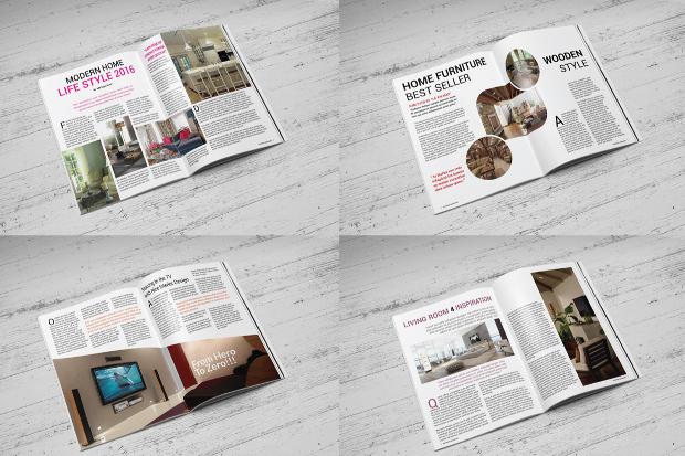 multipurpose interior magazine template