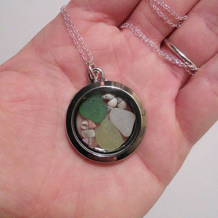 Simple Sea Glass Necklace
