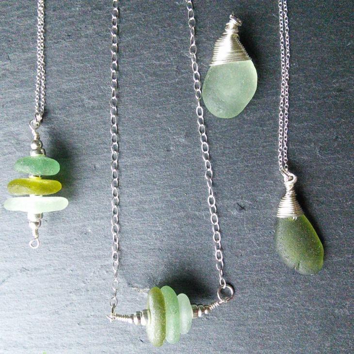 Green Sea Glass Jewelry Idea