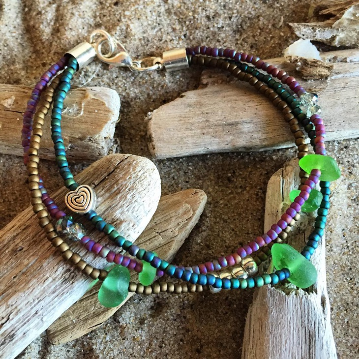 Colorful Sea Glass Bracelet