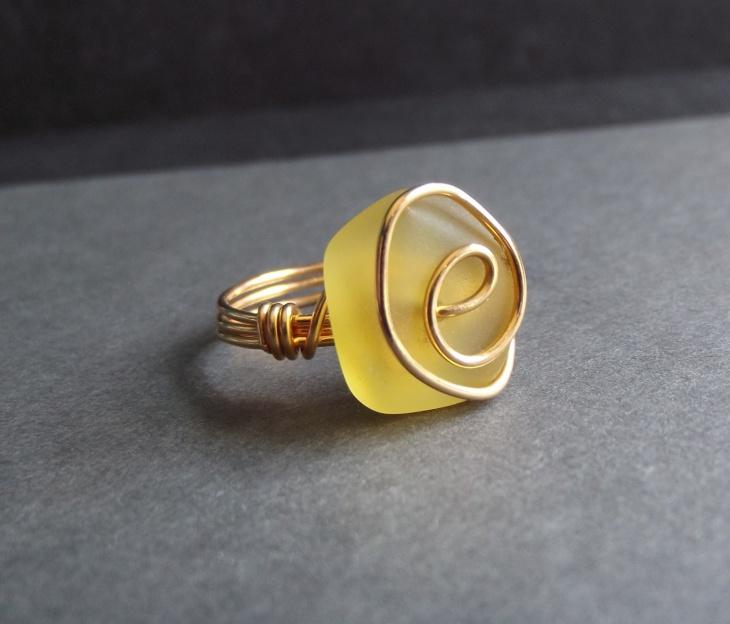 Yellow Sea Glass Jewelry
