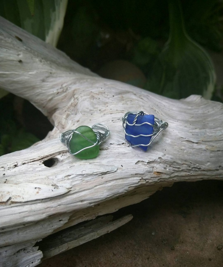 Simple Sea Glass Ring Design