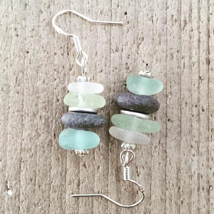 Unique Sea Glass Earrings Idea