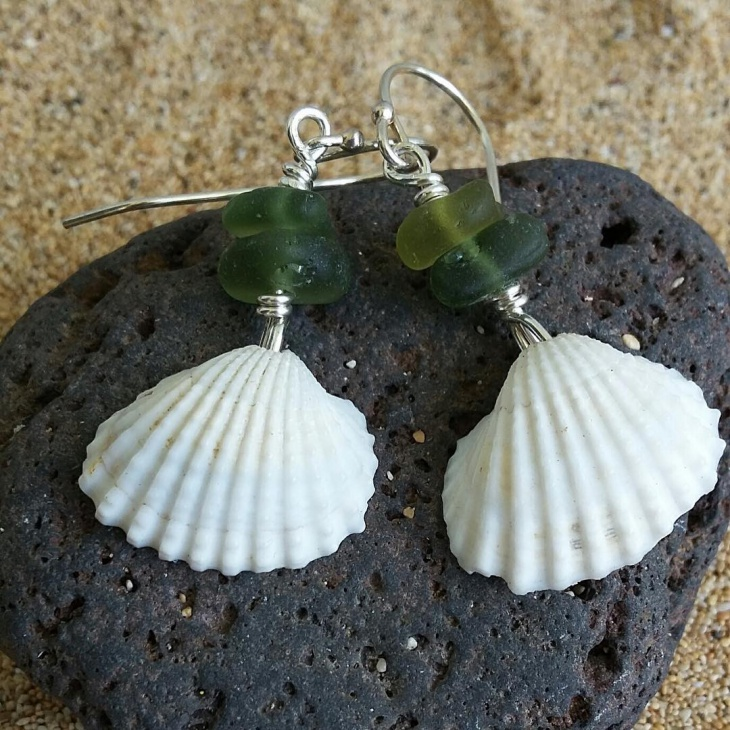Lovely Shell Drop Earrings Idea