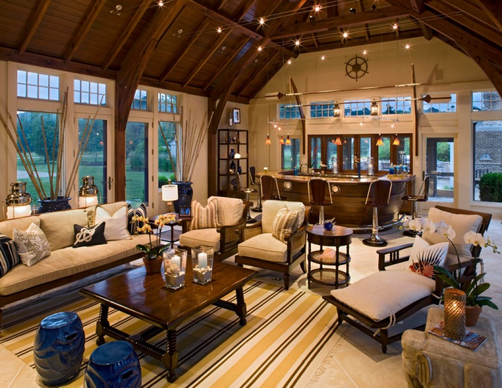 dark brown living room idea