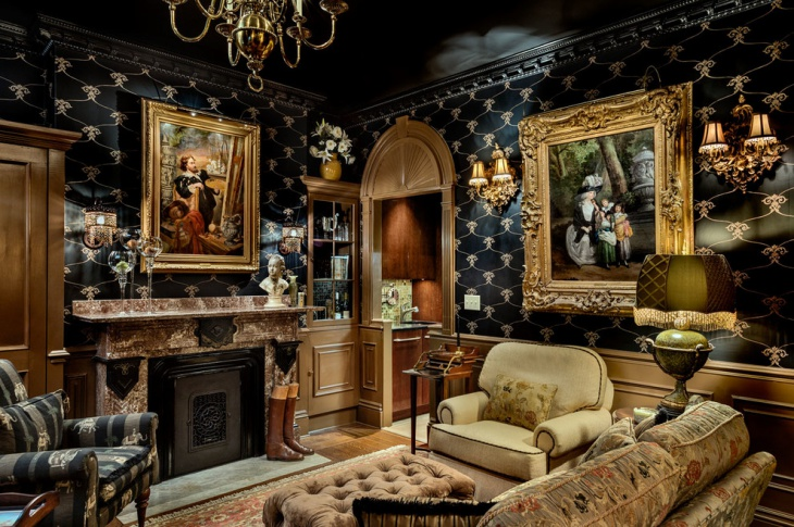 Victorian Dark Living Room