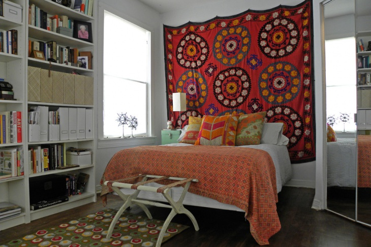 bedroom boho backdrop design