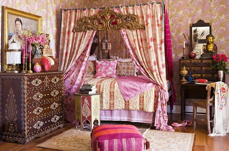bedroom bohemian furniture design