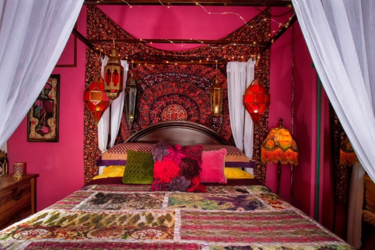 colorful bohemain bedroom