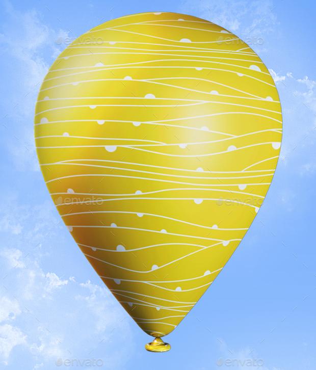 realistic balloon mockups