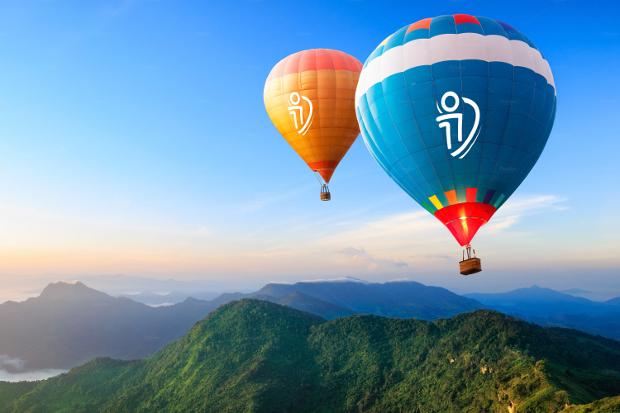 layered air balloon mockup