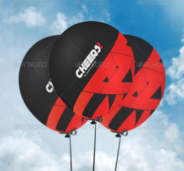 balloon mockup psd