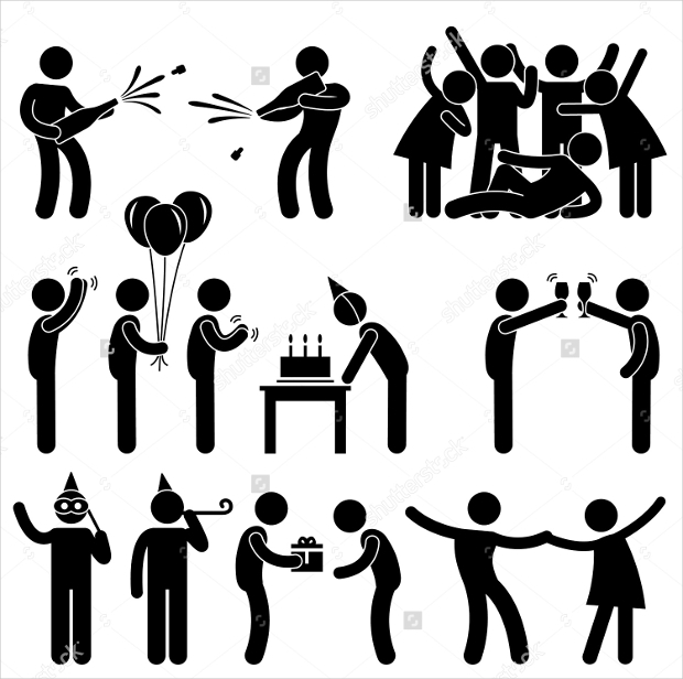 friend party celebration birthday icon