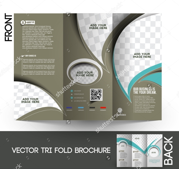 tri fold corporate business store mock up