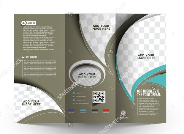 corporate business trifold brochure mockup